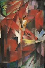 FRANZ MARC the foxes VINTAGE PAINTING ART POSTER german impressionist 24X36