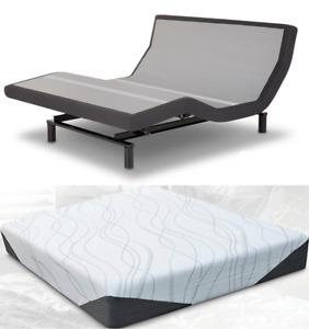 Leggett & Platt Prodigy 2.0 Adjustable Bed w/ Choice of Cool Gel Bed Boss Matt