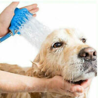 Pet Bathing Tool Shower Sprayer Scrubber in-One Bath for Dogs Cats hair US Stock