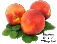 Nectarines Wall Art Laser Cut Out Metal Sign 12x16