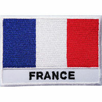 France Flag Embroidered Iron / Sew On Clothes French Patch T Shirt Bag Hat Badge