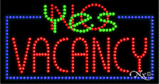 """New """"Vacancy Yes/No"""" 32x17 Solid/Animated Led Sign w/Custom Options 21122"""