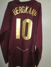 Arsenal 2005-2006 Away long sleeve Bergkamp Redcurrant Football Shirt / 34945