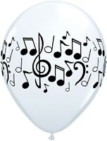 PACK OF 10 MUSIC NOTES LATEX BALLOONS MUSICAL NOTE THEMED PARTY DECORATIONS 28CM