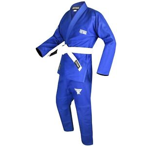 FISTRAGE Jiu Jitsu Gi Patch BJJ Brazilian for Men & Women MMA Uniform with Belt