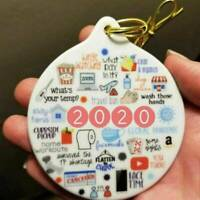 2021 Christmas Ornament Holiday ornament Pandemic Annual Events Xmas Tree Decor