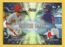 2016 Bowman Baseball Rafael Devers Matt Carpenter Mirror Image Refractor #MI-20