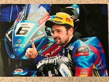 "Michael Dunlop 2017 Isle of Man Senior T.T  Suzuki GSX-R1000 signed 12""x8"" photo"