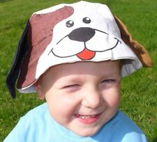 NEW Novelty Animal Bucket Sun Hat Puppy Dog Boy Girl Sunhat HATS Spotted Dog