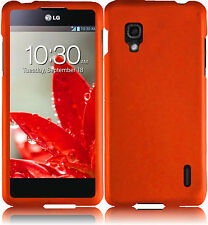 For Sprint LG Optimus G LS970 Rubberized HARD Case Snap On Phone Cover Orange