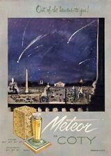 1951 COTY  PRINT AD Meteor Perfume
