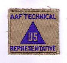 WWII - CIVIL - AAF TECHNICAL REPRESENTATIVE (Original patch)