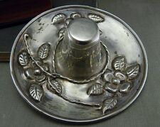 Vintage Floral Sombrero Mexican Hat Sterling Ring Tray