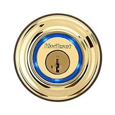 Brass Kwikset Kevo Smart Deadbolt Door Lock Keyless Bluetooth Digital Touch iOS