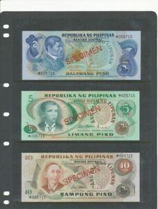 Philippines specimen banknotes