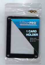Ultra Pro 4-Screw 1-Card Black Border Screw-down Holder Recessed Ultra Clear