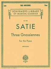 Satie 3 Gnossiennes Piano Solo Piano Large Works NEW 050262480