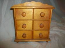 Vintage 6 Drawer Small Dresser Jewelry Storage Box Handmade