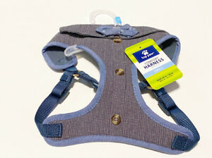 Top Paw Comfort Dog Harness, Small Light Blue with Bow Tie
