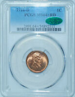 1916 D PCGS MS64+RD CAC Red Lincoln Wheat Cent