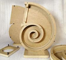 """Spiral speaker boxes for 4"""" fullrange driver, DIY kit, Snail"""