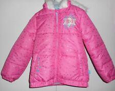 Disney Frozen Winter Puffer Jacket Anna Elsa Faux Fur Toddler Girls Size 4 NWT
