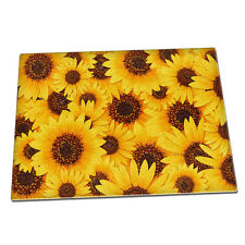 Sunflower blossom nature flowers Glass Chopping Board 083