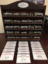 Franklin Mint Greatest Automobiles of the World Die Cast Cars 24 Pieces W/Shelf