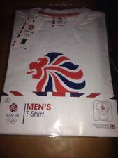 NEW Team GB OLYMPICS Men's White Core Logo T-Shirt - Size Small S BNWT