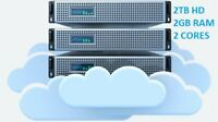 Storage Virtual Private Server VPS - 2000 GB storage, Unlimited bandwidth
