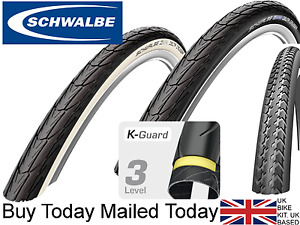 24 X 1 3/8 SCHWALBE Delta Cruiser AntiPuncture 37-540 Tyre Black White Amber Gry
