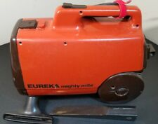 Vintage Eureka Mighty Mite Orange 3120 B Canister Vacuum, Tested WORKS, No Hose