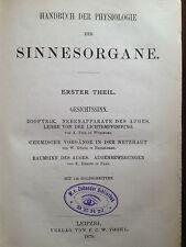 Hermann 1879 Gesichtssinn Physiologie des Auges Ophthalmologie