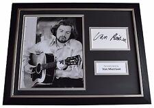 Van Morrison Signed FRAMED Photo Autograph 16x12 display Music AFTAL & COA