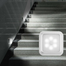 LED Night Light Motion Sensor Wall Closet Cabinet Stair Wireless Bulb Lamp White