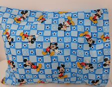 Child Cot Toddler Pillowcase - Blue Mickey Mouse!! 100% Cotton