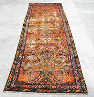 Vintage Oriental Qashghai Runner Rug 3X8.7FT Hand Knotted 100% Wool Pile Carpet