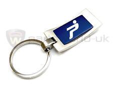 new Official Genuine Fiat Grande Punto & Evo blue & aluminium keyring key holder