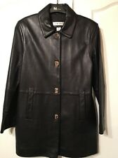 FANTASTIC LADIES BLACK LEATHER JACKET COAT PRESTON & YORK S SOFT LAMB SKIN
