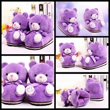 Women Winter Slippers Anime Indoor Cartoon Teddy Bear Shoes Cotton Home Soft