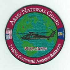 """1-147th COMMAND AVN BATTALION """"WISCONSIN"""" patch"""