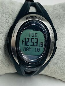 Ladies Sportline Elite Cardio Coded Heart Rate Monitor Black Watch New Battery