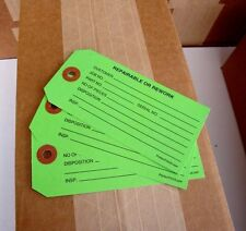 100 Repairable or Rework inspection tags quality control labels paper hang tag