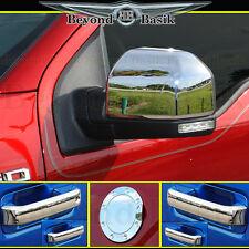 2015-2018 FORD F150 Crew Cab Chrome Door Handle(no SMART)+Gas Door+Mirror COVERS