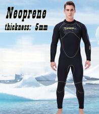 New  5mm Men Neoprene Wetsuit Surfing Diving Suit Full Body Snorkel Triathlon AU
