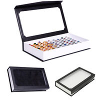 NE_ Fashion Rectangle Jewelry Display Tray Holder 72 Holes Rings Storage Case Bo