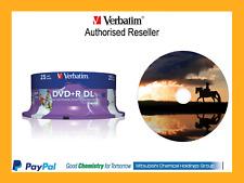 $0 P&H Genuine VERBATIM Blank DVD+R DL 8.5GB 25Pk White Inkjet 8x 43667 MKM 003