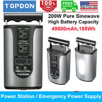 Power Station Portable Solar Generator CPAP Backup Battery Pack Power Supply