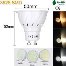 GU10 LED Spotlight Bulbs 3528 SMD 4W 6W 8W Cool Warm White 110V 220V 12-24V Lamp