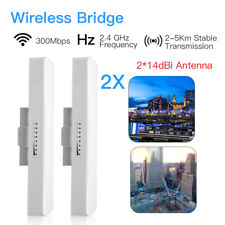 300Mbps WIFI Outdoor Wireless Bridge Router 2.4G Signal Booster High Power CPE